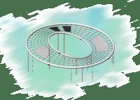 Канатные комплексы и оборудование на трубах большого диаметра