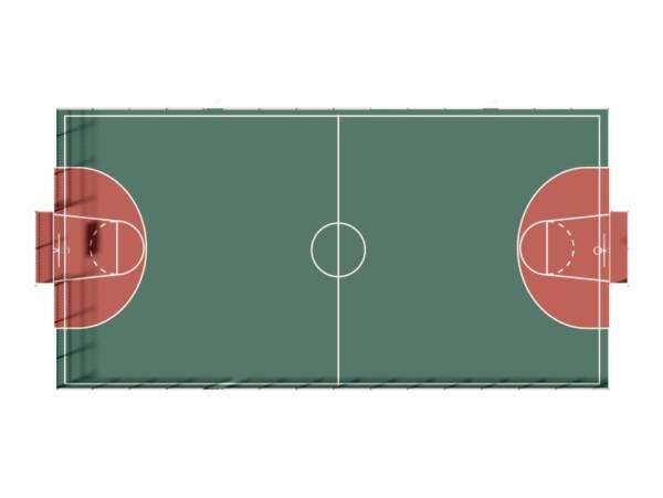 Ограждение для стандартной игровой спортивной площадки (98,6 пог.м.)