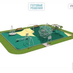 Игровая площадка для детей от 3 до 7 лет 14 x 9 x 3,8 м
