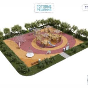 Игровая площадка для детей от 3 до 14 лет 24 x 19 x 4,01 м