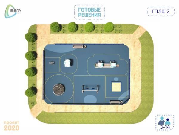 Игровая площадка для детей от 3 до 14 лет 12 x 9 x 3,03 м
