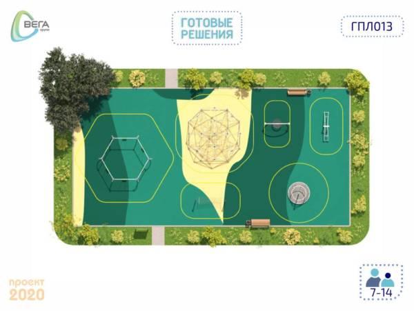 Игровая площадка для детей от 7 до 14 лет 22 x 13 x 3,3 м