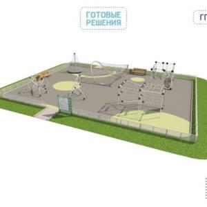 Игровая площадка для детей от 7 до 14 лет 15 x 10,5 x 3,03 м
