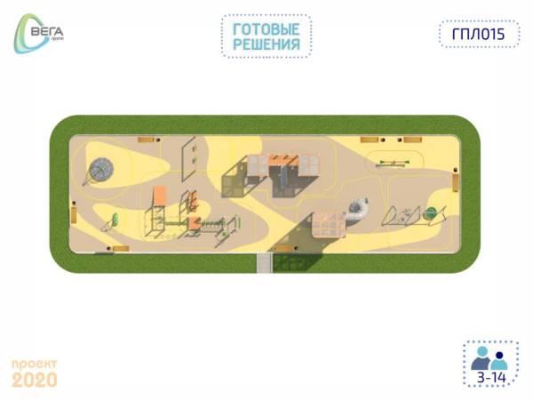 Игровая площадка для детей от 7 до 14 лет 15 x 5 x 6, 2 м