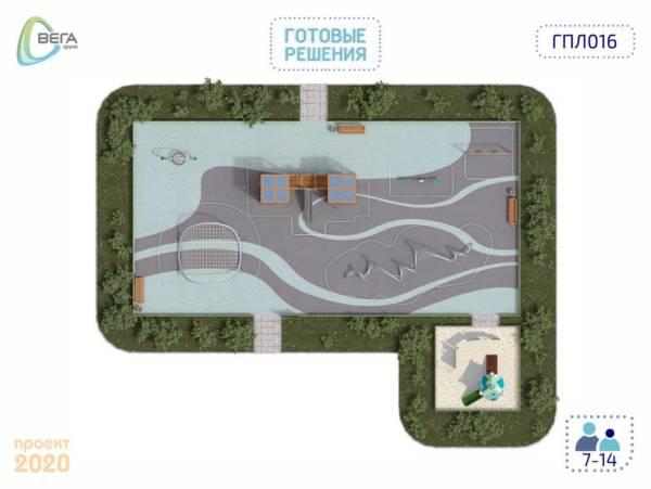 Игровая площадка для детей от 7 до 14 лет 22,5 x 16,5 x 4,04 м