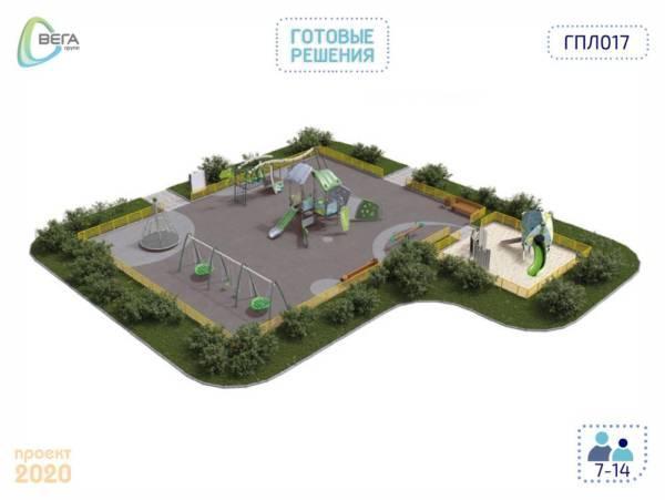 Игровая площадка для детей от 3 до 14 лет 16,5 x 15 x 4,04 м
