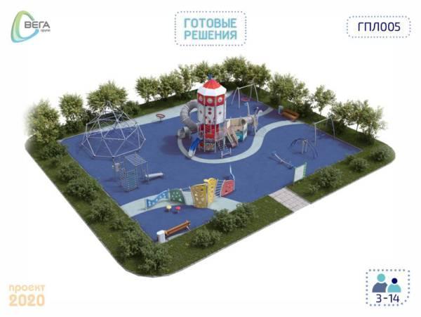 Игровая площадка для детей от 5 до 14 лет