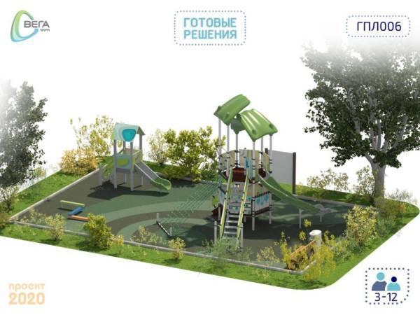 Детская игровая площадка для детей от 3 до 12 лет