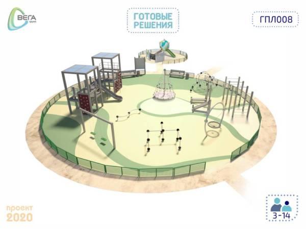 Игровая площадка для детей от 3 до 14 лет