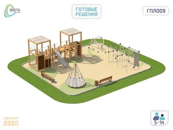 Детская игровая площадка для детей от 5 до 14 лет