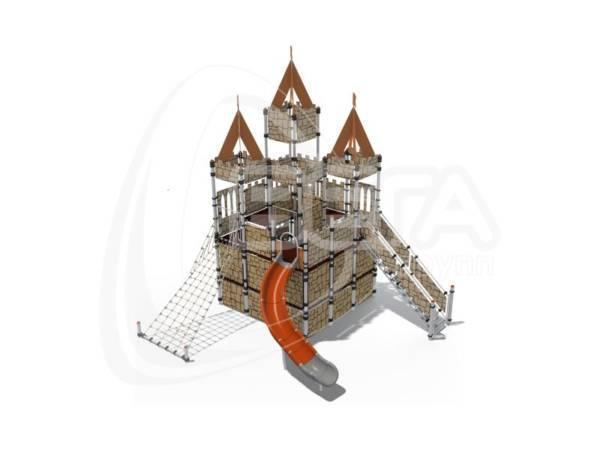 """Детский городок """"Замок Иф"""" (пластик оранжевый)"""