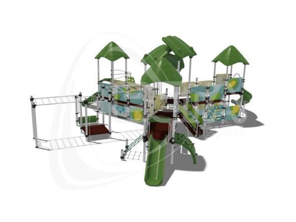 "Детский городок ""Мадагаскар"", комплектация 1 (паттерн ""Papercut"")"