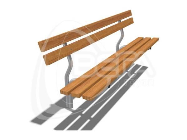 """Диван парковый """"Хельсинки"""", длина 1,9 м, цвет орех"""
