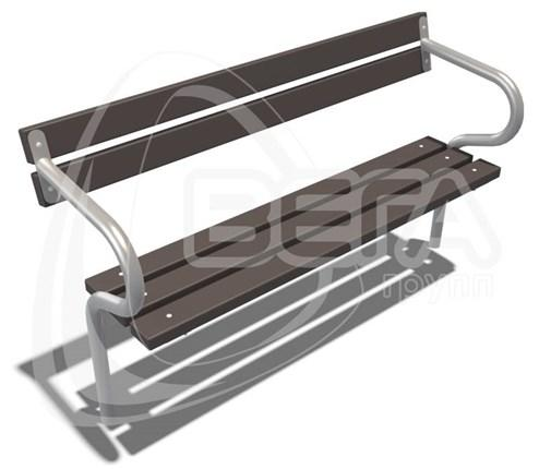 """Диван парковый """"Женева"""", длина 1,5м, цвет коричневый"""