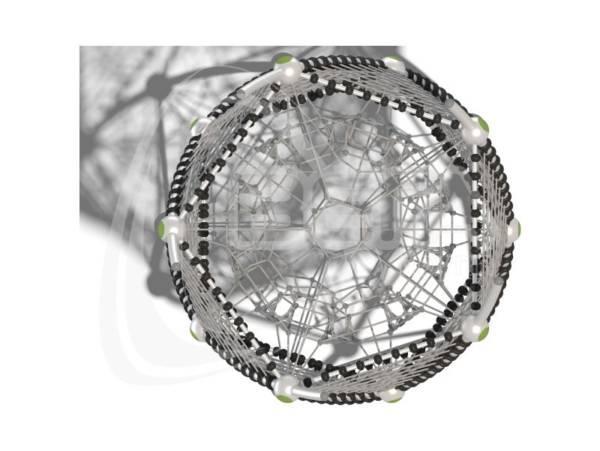"""Гибкие элементы для лазания """"ДНК-Телескоп"""" (паттерн """"Papercut"""")"""