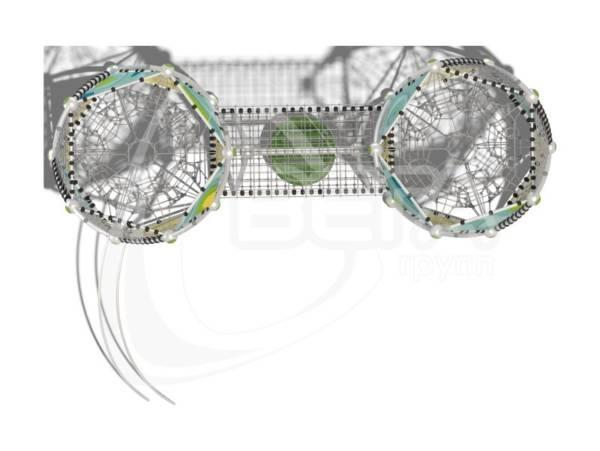 "Гибкие элементы для лазания, ""ДНК-Геркулес"" (паттерн ""Papercut"")"