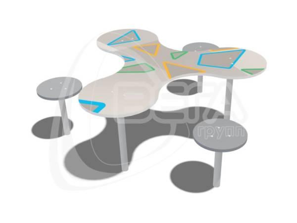 """Столик с 3-мя стульями """"Пропеллер"""""""